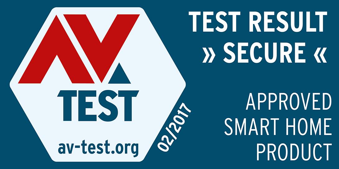 Das Logo des AV-TEST-Zertifikats für umfangreicheTests