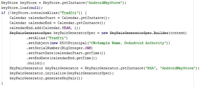Rekonstruierter Code für die Schlüsselgenerierung