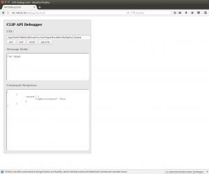 Switching lights via debug web interface